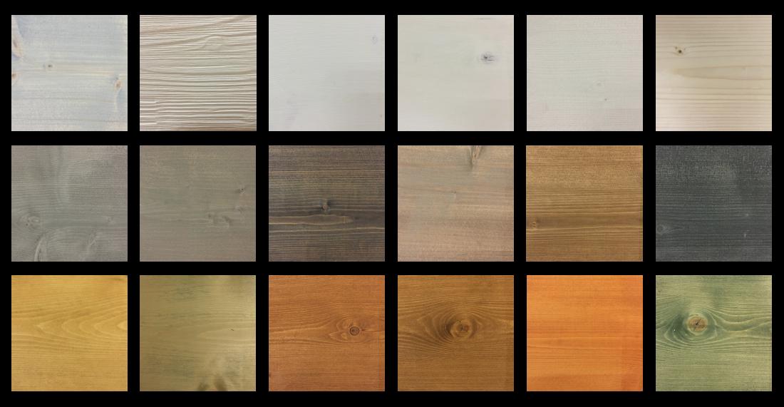 Rossini Legnostrutture - Tabella colori legno